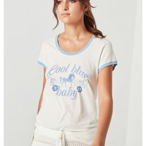 Spell Cool Blue Baby Tee